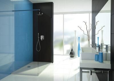 Külön installálható zuhany oldalfal, biztonsági üveg 70 -120 cm-ig