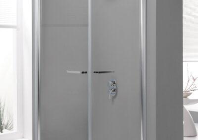 Négyszögletes zuhanykabin vízlepergető üveggel, 90x90cm