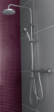 Kludi Dual zuhanyrendszer esőztető fejjel és termosztátos csapteleppel