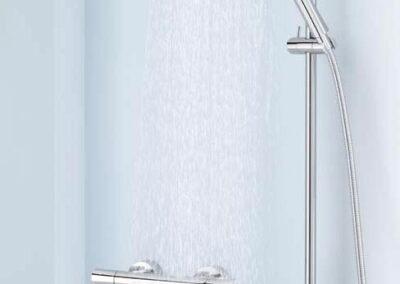 Kludi Zenta zuhanyrendszer esőztető fejjel és termosztátos csapteleppel
