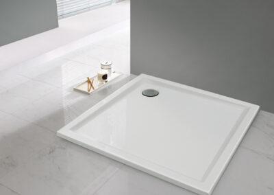 Akril zuhanytálca, 80x80 cm, 1,5 cm mély-től