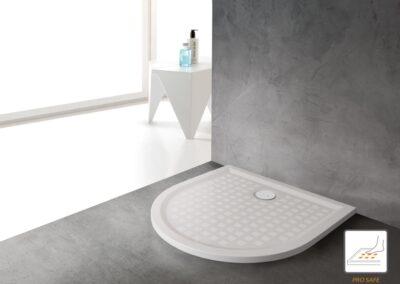 Félköríves, akril zuhanytálca, 100x100 cm