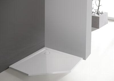 Ötszögletű, akril zuhanytálca, 80x80 cm-től