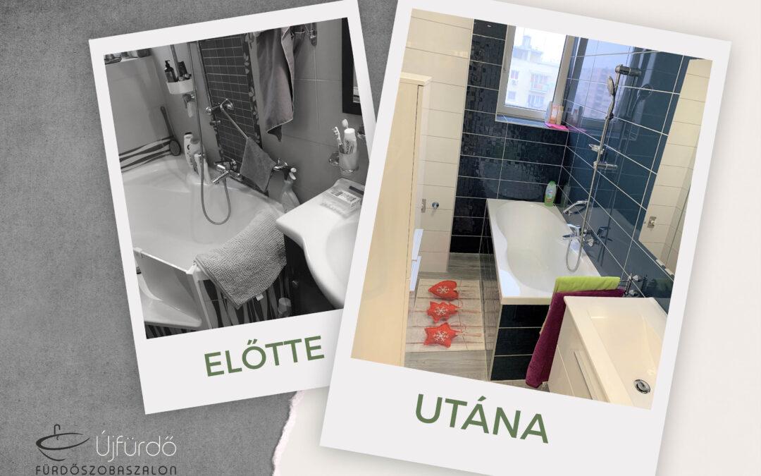 Várszegi Dénesné – Társasházi fürdőszoba felújítás