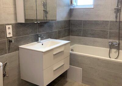 családi ház, fürdő, fürdőszoba, felújítás, újfürdő